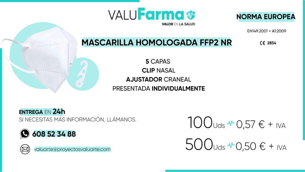 FFP2 HOMOLOGADA CON AJUSTADOR CE 2834-1