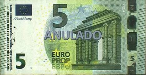 5 euros falso