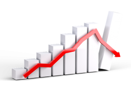 gráfica descendente 2